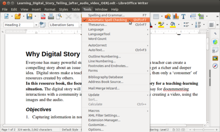 Learn LibreOffice Writer - Open Educational Resources