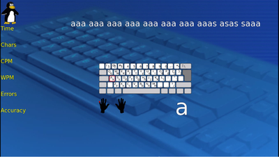 TuxTyping 5 Keyboard screen typing instruction.png
