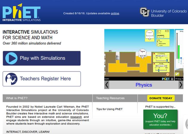 Αποτέλεσμα εικόνας για phet simulations