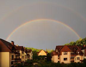 Double rainbow, Graz, Austria, 2010-05-30.jpg